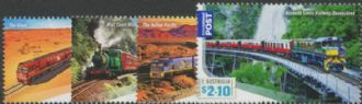 AUS SG3384-7 Great Australian Railway Journeys set of 4